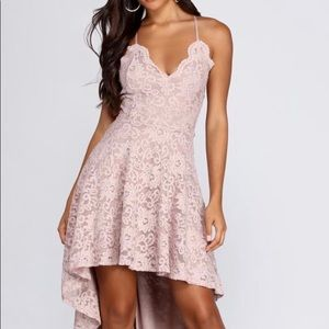Glide by Lace Skater Dress Windsor Taupe Small